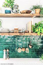 Für mein Zuhause / Dekorationsideen 24 / Ein Hauch von Grün in meinem Dekor