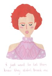 andie / jolie rose / john hughes / molly ringwald / années 80 / gouache illustrati …   – Pink