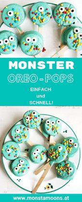 Monster Oreo aparece para la fiesta de los niños o Halloween   – Geburtstag