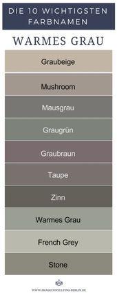 Warme Grautöne sind Graubeige, Mushroom, Mausgrau… – #Graubeige #Grautöne #M…