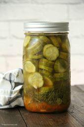 Mexican Refrigerator Pickles, einfache hausgemachte Essiggurken für den Kühlschrank …   – Vegetables