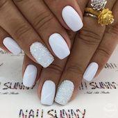 40+ Elegant White Square Nails Art Inspirations