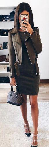 Trendy Skirt Winter Schuhe Lederjacken Ideen