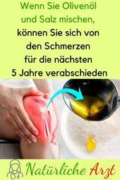 Wenn Sie Olivenöl und Salz mischen, können Sie den Schmerzen entkommen …   – Gesundheit