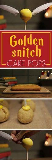 Feiern Sie den Geburtstag von Harry Potter mit diesen goldenen Snitch Cake Pops …