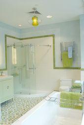 Cool Shower Green Bathroom Lime Green Bathrooms Blue Bathroom Tile