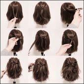 einfacher Hairstyle für kurzes Haar | Hair & makeup in 2018 … – Frisuren Da… – Frisuren 2018