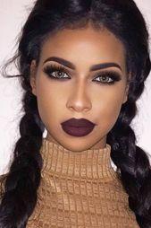 Smoky Make-up: Tipps Anleitungen und viele Ideen in 20 Fotos! #augen #makeup #au…