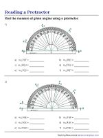 25++ Newest reading a protractor worksheet Latest News