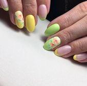 Manicure Yellow Pink 69 Ideas –
