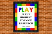 Druckbare Kinderzimmer Kunst, Einstein Zitat, spielen ist die höchste Form der Forschung …   – Lego Ideas