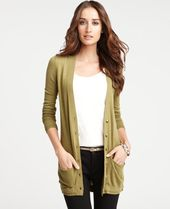 ann taylor cardigan in lime leaf