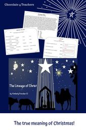 The Lineage of Christ : Non-Fiction Passages and Printables