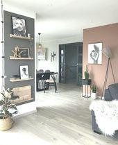 Graue & rosafarbene Wände #modernhome #modern #scandinave   – haus