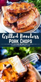 These easy Grilled Boneless Pork Chops have a delicious homemade rub with pantry…