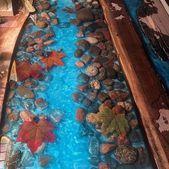 Erstaunliches hölzernes Tabellenprojekt des Epoxidharzes   – Columbia house crafts  – Epoxymodels