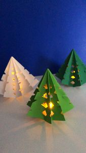 3d Paper Christmas Tree Luminary – Red Ted Art