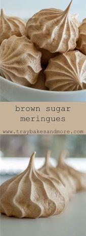 Brown Sugar Meringues  Heute Rezepte #Cake #Aperitif #Dessert #Chicken #Keto