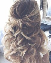 Top 6 Hochzeitsfrisuren für 2019 Trends, # Frisuren #Trends #Hochzeit #Haarfrisur ... -