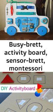Busy-brett, activity board, sensor-brett, montessori pädagogisches spielzeug, spielzeug aus holz, 4
