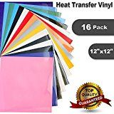 10 Heat Transfer Vinyl For T Shirts 16 Pack 12 X 12 Sheets Assorted Colors Iron On Htv For Cricut A Heat Transfer Vinyl Heat Transfer Silhouette Cameo