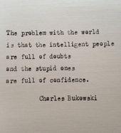 Charles Bukowski eingegeben Zitat auf Schreibmaschine – einzigartiges Geschenk