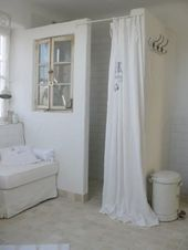 Bathroom. Chalk Painted. White, Grey, Chippy, Shab…