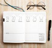 Minimalistisches Wochenbuch 🖋️ Ich hatte diese Woche nicht viel Zeit für #
