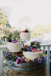 3 Tipps und 20 Ideen, wie Sie Ihre Hochzeitstorte präsentieren können   – 35 year wedding