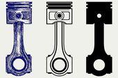 Engine piston. Pattern Vectors. $2.00