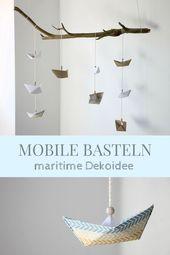 Mobile basteln: Anleitung für ein Papierschiffchen-Mobile – Lavendelblog