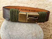 Items similar to EXPRESS SHIPPING,Men's Personalized Bracelet,Men's Leather Bracelet, Anniversary Graduation Gift for Him,Valentines Gift , Handmade Bracelet on Etsy