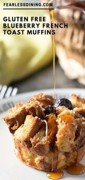Gluten Free Blueberry French Toast Muffins