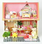 Sylvanian Families Cath Kidston Decorated Fully Furnished Christmas House Ebay With Images Sylvanian Families Christmas House Decor