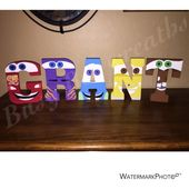 Hand painted Cars wooden letters/Kids room decor/Disney letters/Wood/Lightning McQueen/Mater/Baby/Nursery/