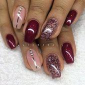 Eine erstaunliche Nagelkunst mit eindrucksvollen Herbstfarben. Wenn Sie mehr P