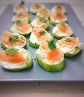 Comida rápida con pepino y salmón   – Fingerfood