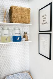 Laundry Room Makeover – DIY Peel and Stick Tile (with VIDEO) — Farmhouse Living
