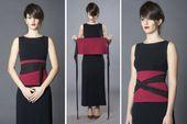 Zweifarbige Obigürtel Wickelgürtel breiten Gürtel, Gürtel, schwarze Gürtel, japanische Kleidung, Taille Cincher Gürtel, Gürtel für Frauen