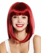 Wig Me up Wig Ladies Shoulder Length Smooth Long Bob Fringe Red Garnet Red VK-49 4260624833491  eBay #Ad , #AFFILIATE, #Smooth#Long#Bob