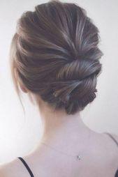 Wedding hairstyles updo with braid/ Wedding hairstyles medium length/ vintage wedding hairstyles for short hair