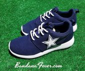 Bandana Fever Dallas Cowboys bedrucken Custom Navy Nike Roshe Schuhe