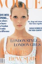 model: Kate Moss; photographer: Corinne Day; cover of UK Vogue 1993 I know this was some kin…