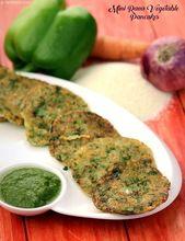Mini Rava Vegetable Pancakes, der schnelle Teig aus Grieß, Quark und Gemüse …   – Feed me, Seymour!