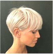 Moderne kurze blonde Frisuren für Damen » Frisuren 2019 Neue Frisuren und Haarfarben #kurzeFrisurenfrFrauen #blonde #Damen #frisuren