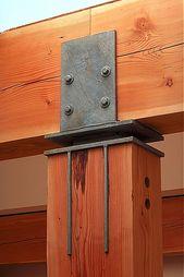 connexion en bois lourd pour un look industriel!   – porch
