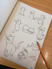Zeichnen, Katze   – Aquarell katze – #Aquarell #Katze #Zeichnen