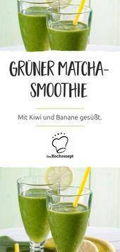 Grüner Matcha Smoothie   – Gesundes Frühstück