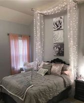 47 Attraktives Diy-Palettenbett mit Lichtideen   – Schlafzimmer