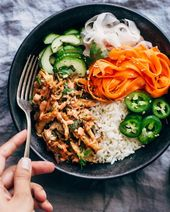 Crispy chicken seasoned with all the flavors you find on a chicken banh mi sandw…
